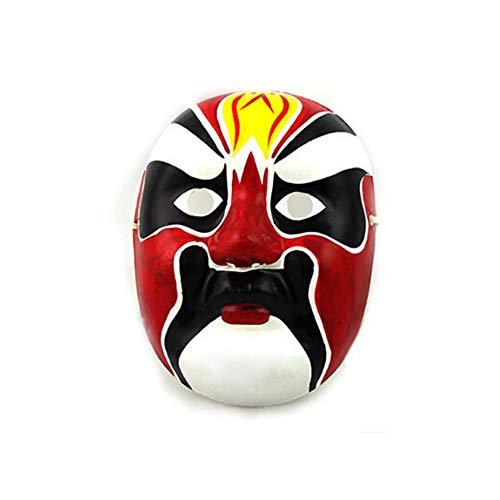 NUOKAI Hand-Painted Gips Zellstoff Maske chinesischen Stil Quintessenz Gesicht Requisiten Handwerk Peking Oper Maske