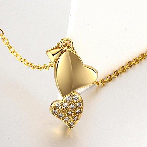 Aoligei Aktuelle Legierung Schmuck Zirkon herzförmigen Halskette Männer und Frauen allgemein