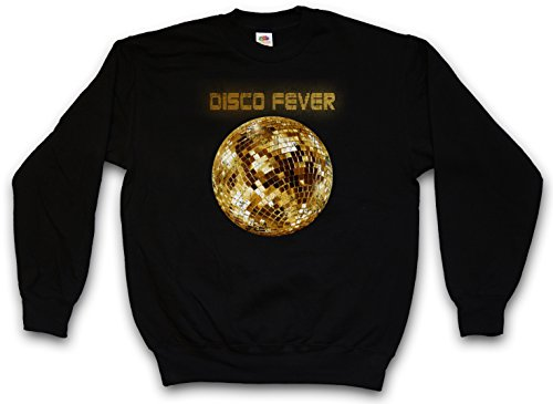 DISCO LIGHT II SWEATSHIRT – Luce Retro Oldies Music Musik Nerd Techno Indie Electro Wave New Hipster Club Clubbing Rave Cyber Dance Mirror Ball Starlight Star 70s 80s 90s Taglie S – 3XL Nero