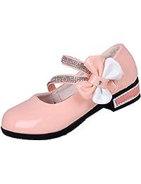 La vogue Merceditas Zapatillas Niñas Sandalias con Lazo