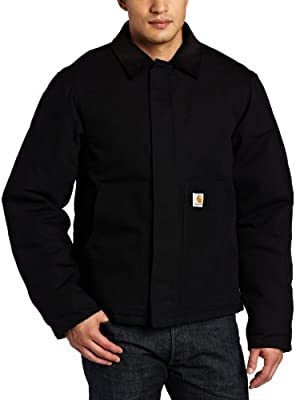 Carhartt Men's Arctic Quilt Lined Duck Traditional Jacket,Black,X-Large