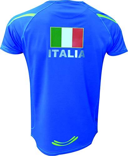 molto traspirante e leggero Taglia XL Ekeko Bandiera Pirata running Colore Bianco atletica e sport in generale t-shirt
