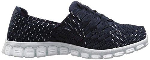 Skechers Sport Ez Flex 2 Tada Fashion Sneaker Navy/Silver