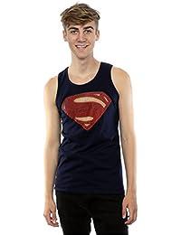 DC Comics Homme Superman Man of Steel Logo Tank Top