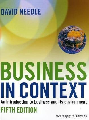 Business in Context by David Needle (26-Mar-2010) Paperback