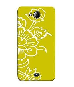 PrintVisa Flower Sketch 3D Hard Polycarbonate Designer Back Case Cover for Micromax Canvas Play Q355