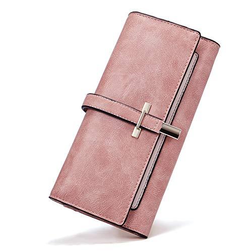 Geldbörse für Frauen, Leder, schmal, Lange Designer-Design, dreifach faltbar, Kreditkartenhalter, Organizer, Muttertagsgeschenk