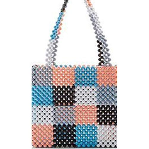 Bag-Haigeen Perlen Tasche Regenbogen handgewebte Perle Promi Handtasche Europa USA einzigartiges Design Bunte Damen Party 5