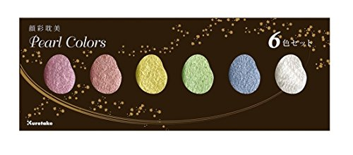 Kuretake ZIG GANSAI Tambi Traditionelle japanische Große Pfanne Aquarellfarbe Sets 6 Colour Pearl...