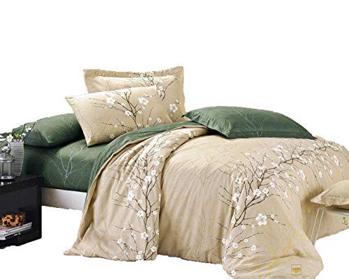 Cherry Blossom Bettbezug-Set, baumwolle, multi, King Size - Abstract Tröster