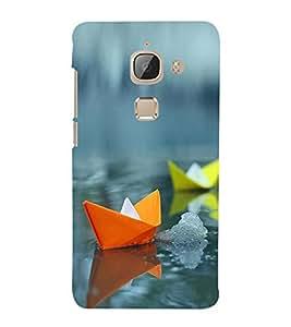 Colourful Paper Boats 3D Hard Polycarbonate Designer Back Case Cover for LeEco Le 2s :: Letv 2S :: Letv 2