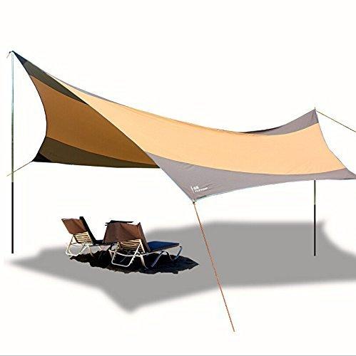 Olayer Ultra-Sonnenschutzsegel, 5,5x 5,6m großer UV-Sonnenschutz auch für Autos geeignet,...