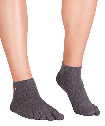 Knitido Track & Trail Ultralite Fresh Zehensocken-Sneaker Unisex, Größe:39-42, Farbe:Anthrazit