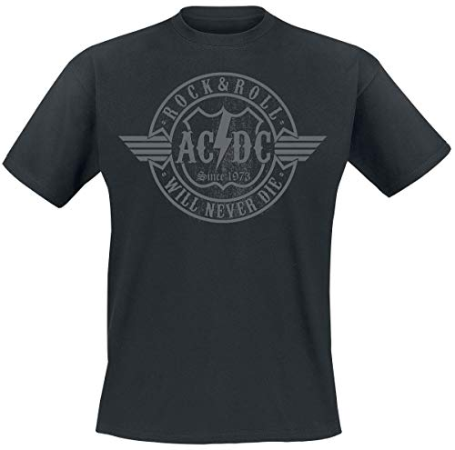 AC/DC Rock & Roll - Will Never Die Camiseta Negro L
