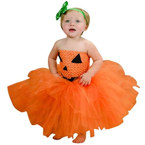 Romantic Baby Mädchen Kleider Ärmellos Kleid Mädchen Festlich Halloween Kostüme Spinne/Hexe/Kürbis Cosplay Party Festzug Kleinkind Spitze Tutu Kleid Mädchen Verkleiden Kleidung + Maske Set
