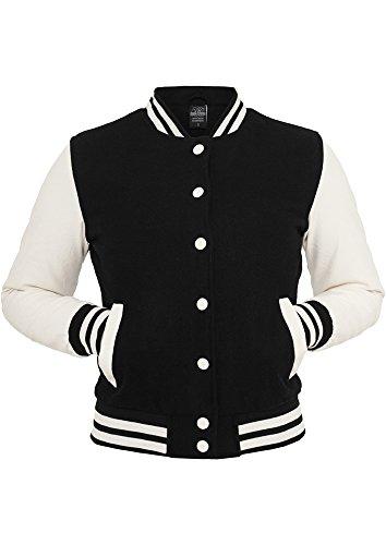 Urban Classics TB217 Ladies Oldschool College Jacket Giacca donna S blk/wht
