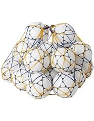 Filet pour 20 ballons de football de couleur Orange/Bleu - Visiodirect-