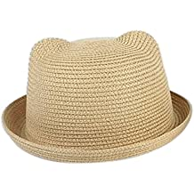 Leisial Sombrero de Paja Playa Sombrero de Sol de Ocio al Deporte Aire  Libre Verano para 4cc06a9eabb