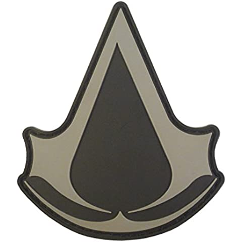 Assassin's Creed ACU Gray PS PS3 PS4 Xbox Cosplay PVC Rubber 3D Velcro Patch