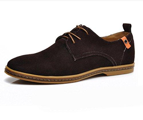 WZG chaussures de sport New chute mode hommes de suède cuir chaussures hommes flats 9.5 Camel