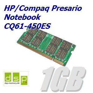 1GB Speicher / RAM für HP/Compaq Presario Notebook CQ61-450ES (Speicher 450es)