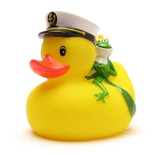 Duckshop I Badeente I Quietscheente I Kapitän Ente mit Froschkönig