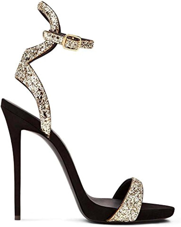 ZPL Donna Sexy Sexy Sexy Caviglia Cinghia Le signore Sbirciare Dito del piede Stiletto alto Tacco Nero sandali Scarpe Festa... | Il Più Economico  1ad728
