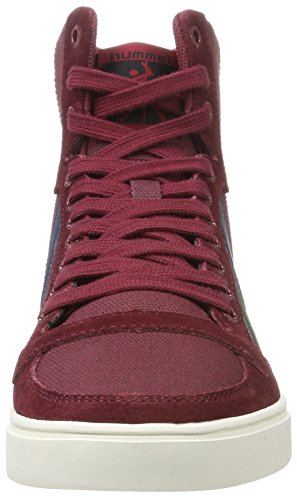 Hummel Slimmer Stadil Duo Canvas High, Pantofole a Stivaletto Unisex – Adulto Rosso (Cabernet)