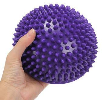 Star Yoga - Yoga Half Ball Physical Fitness Appliance Exercise Balance Ball Point Fitness Massage Half Ball for Stability Exercise Hedgehog Balance Pod Acupressure Ball, Orange 16 cm Diameter, Purple