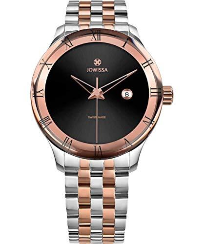 Jowissa Romo Swiss J2.234.L - Reloj de Pulsera para Hombre, Color Negro, Rosa y Plateado