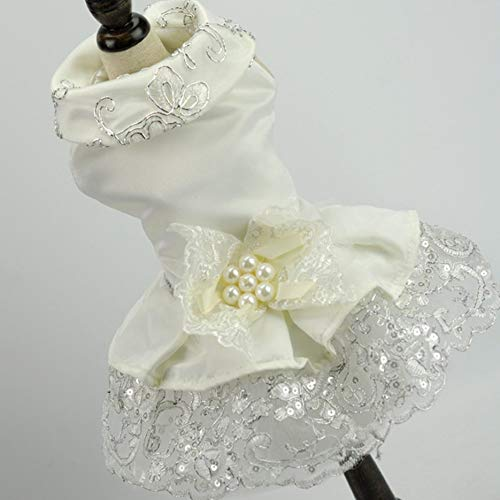 FINGO BF1170 Hund Kleid Universal Princess Dress Pet Kleidung Komfortable Hund Hochzeitskleid Pet...