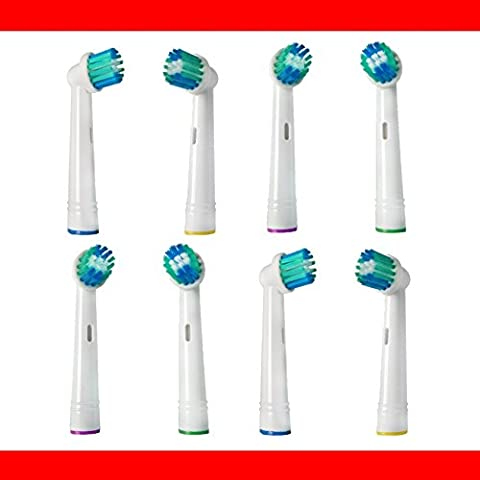 proPHONE® - 8 Stk. Aufsteckbürsten passend für --- ALLE --- Braun ORAL-B/OralB/OralB Zahnbürsten mit rundem Bürstenkopf (Elektrische Zahnbürsten Modelle mit oszillierenden Rundbürsten) z.B. kompatibel mit Oral B Triumph, Vitality, ProWhite, Sensitive + Clean, White + Clean, Professional Care, Precision Clean, SmartSeries, Black, Center, Oxyjet, Center, TriZone, Advance Power, Advance Power Kids, Stages Power, Precision Clean, Dual Clean, Pro Health, Plak Control, 3D Excel, Interclean IC2522, ID2021, ID2025, ID2025T, weitere kompatible OralB Typen 3711, 3725, 3728, 3731, 3738, 3744, 3745, 3756, 3757, 3709, 4729, 4730, 4731, 4733, 4736, 4739, 4740, 4712, 4713, 4716, 4721, 4725, 4726, 4727, 4728, D2010, D4010, D4510, D5000S, D5011, D5011S, D5015T, D5021S, D5025, D5025S, D5025T, D5045S, D5500, D5500S, D5525, D5525S, D5525T, D5545, D5545S, D6011, D6013, D6021, D6511, D7000, D7011, D7022, D7025, D7500, D7511, D7521, D7522, D7525, D7545, D8011, D8013, D8511, D8513, D8525, D9000, D9011, D9013, D9022, D9025, D9500, D9511, D9513, D9521, D9522, D9525, D9542, D9545, D10.511, D12.000, D12.500, D12.513, D12.513P, D12.523, D12.523P, D12.523W, D15.500, D15.511, D15.513, D15.525, D15.535, D16.500, D17.511, D17.525, D17.535, D18.500, D19.500, D20.500, D24.500, D25.500, D26.500, D27.500, D30.500, D32.565, D79.013, DB4.010, DB4.510, IC2522, ID202, ID2025, RS950, ID2025T, 400,450,450TX,500,550, 600,650, 700, 750, 800,850,900, 950,950TX, 1000,2000,3000,3250, 4000,4750,5000,5500, 6000,6500, 7000,7400,7500,7550,7850,7875, 8000,8300,8500,8850,8860, 8875,8900,8950, 9000,9100,9400,9425,9450, 9475,9500,9900,9910, 9930,9950, Aufsteckzahnbürsten, Ersatzbürsten, Ersatz Zahnbürsten für Erwachsene und Kinder, Electric Toothbrush Heads Replacement OralB / TESTINE RICAMBIO COMPATIBILI ORAL B SPAZZOLINO ELETTRICO TESTINA COMPATIBILE / TETES BROSSETTES COMPATIBLES Braun OralB brosse à dents electrique / RECAMBIOS COMPATIBLES CON EL CEPILLO DE DIENTES ELECTRICO ORAL-B (proPHONE-dent-17-8)