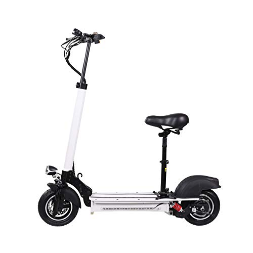 XULONG Elektrische Roller Adult Faltbar, 200 kg Max Load mit Seat 10 Zoll 55km/H, Lithium Battery 48V 10AH, 1200W Rear Wheel Single Motor Drive mit LED-Licht und HD Display,50km Range