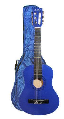 Music Alley MA-52 - Guitarra acústica con cuerdas metálicas, color azul