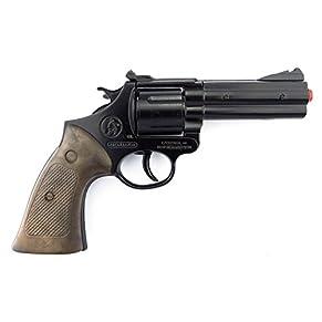 Gonher Die Cast Metal - Revolver Policía con 12 disparos, color negro (127/6)