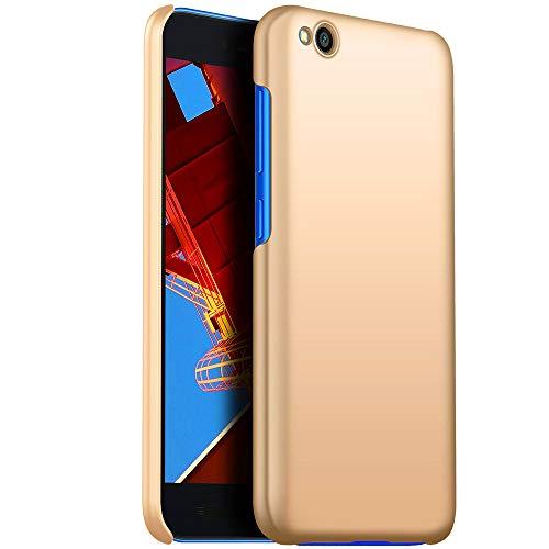 fitmore Funda Carcasa para Xiaomi Redmi Go,Ultra Fina Silicona TPU Protección Anti-Rasguño Anti-Choque Caso Cover Xiaomi Redmi Go, Dorado