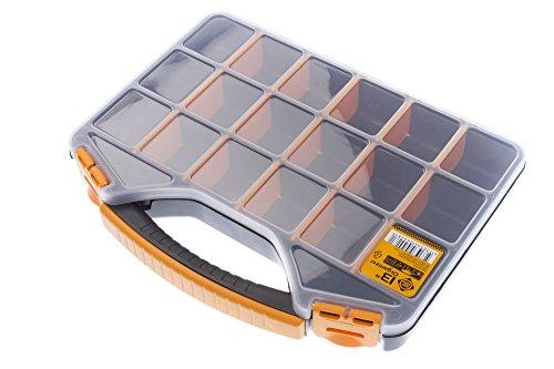 FORTE Tools Organizer, Aufbewahrungsbox, Werkzeugbox, mit 18 Fächern, 13 Zoll
