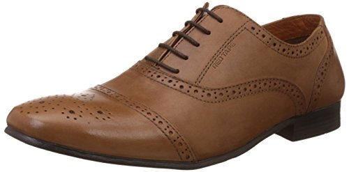 Red Tape Men's Brogue Tan Leather Formal Shoes - 10 UK/India (44 EU)