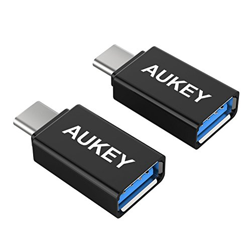 Aukey CB-A1 - Pack de adaptadores USB C a 3.0, color negro