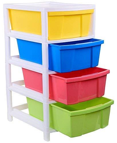 Aristo Houseware Plastic 4-Drawer Rack (38x30x60.90cm, Multicolour)