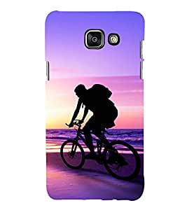 printtech Nature Beach Cycle Back Case Cover for Samsung Galaxy A3 (2016)