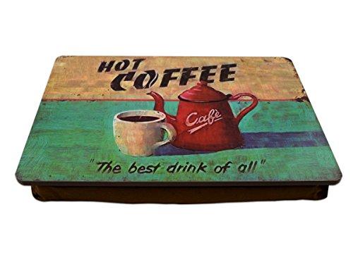 """Knietablett""""Hot Coffee"""" mit Kissen P-893"""