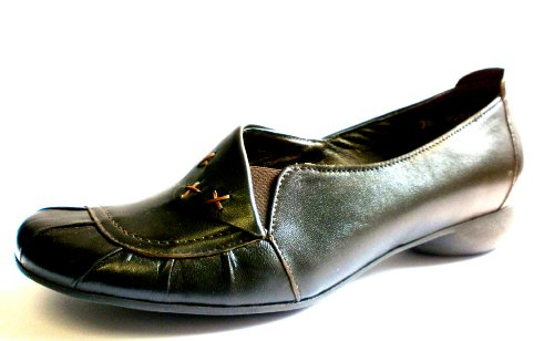 Manitu Damen-Sandale 840168-2, schwarz, Leder + Lederfutter, * SALE * (41)