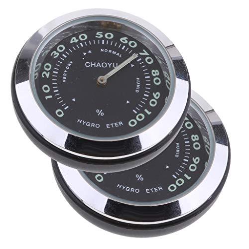 IPOTCH 2 x Mini Auto Thermometer Temperaturanzeige Hygrometer, 4 * 4 * 4cm