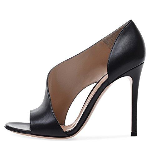 He-yanjing Ladies Fashion Shoes, European and American Women es High-Heeled Sandals Dinner Shoes Fashion Women ' s Shoes Black-Brown,a,45 Brown Womens Heels