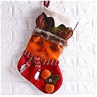 SOPOUITRO Exterior Interior Calcetines de Navidad de Felpa Bolso de Regalo de Candy Bag Decoración del