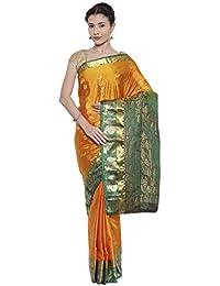 The Chennai Silks - Dharmavaram Silk Saree - Golden Glow Mustard - (CCMYSS7544)