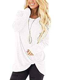8d93592951067 Xpenyo Women s Long Sleeve Tops Twisted Sweatshirt Loose T Shirt Blouses  Tunic Tops