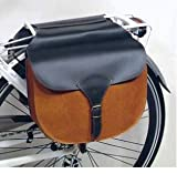 Gepäckträgertasche Kunstleder Bicolor schwarz-braun