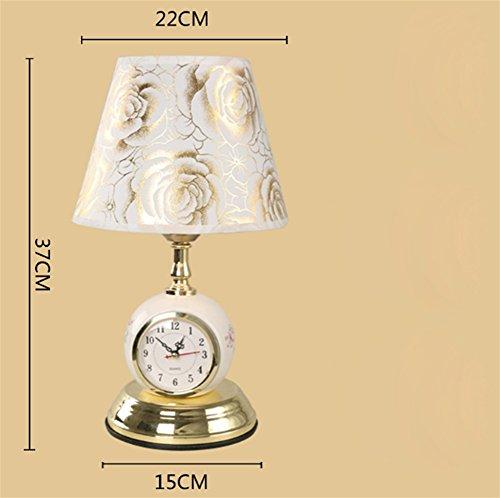 CHEN Amerikanischen Tischlampe Schlafzimmer Kopfteil Moderne Minimalistische Kreative Studie Touch Dimmbare Hause Warmen Licht Zimmer Tischlampe Wecker Lampe, D - Schlafzimmer Moderne Kopfteil